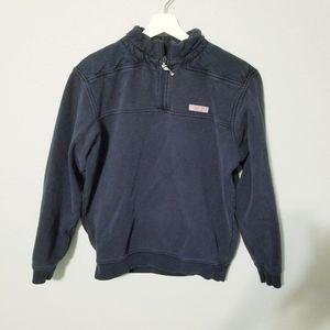 Vineyard Vines blue sweater zipper Small